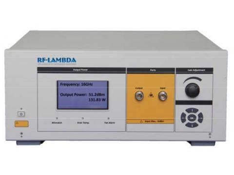 Szerokopasmowy wzmacniacz mocy RF do badań EMC RF-Lambda RAMP06G18GF 140W 6-18GHz