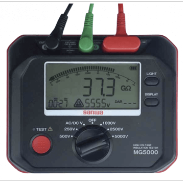 Digital insulation tester - SANWA MG5000