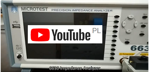 Video instruction how to use impedance analyzer MICROTEST 6630 up to 30MHz, accuracy 0,08%